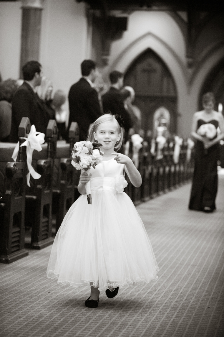 Flower Girl - Adam and Mande - Rainy Downtown London Wedding Photography