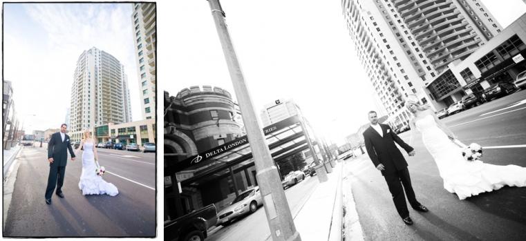 Sun shining - Adam and Mande - Rainy Downtown London Wedding Photography