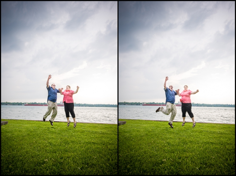 Eric + Amy Engagement Session Having Fun St Clair River