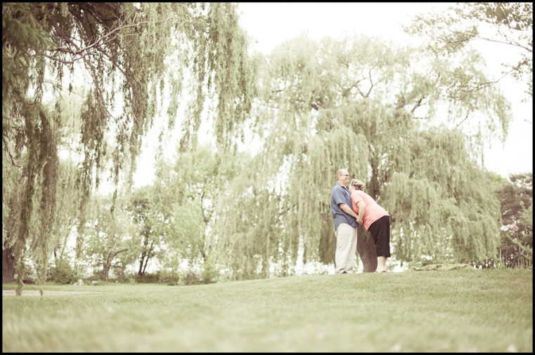 Eric + Amy Engagement Session Willows and a kiss in Sombra Ontario