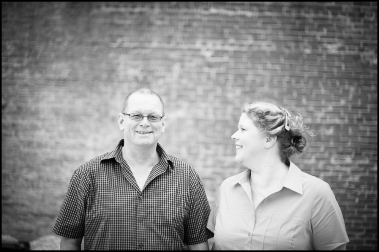 Eric + Amy Engagement Session Wallaceburg bridge Black and white