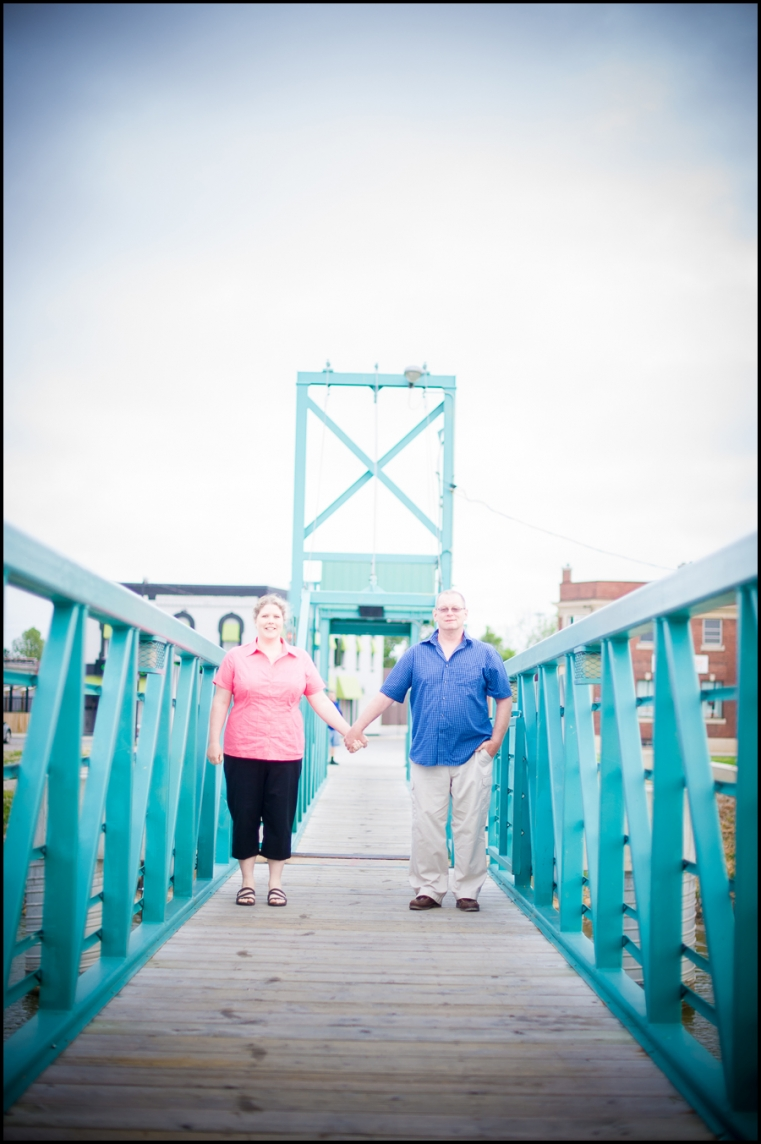 Eric + Amy Engagement Session Wallaceburg bridge