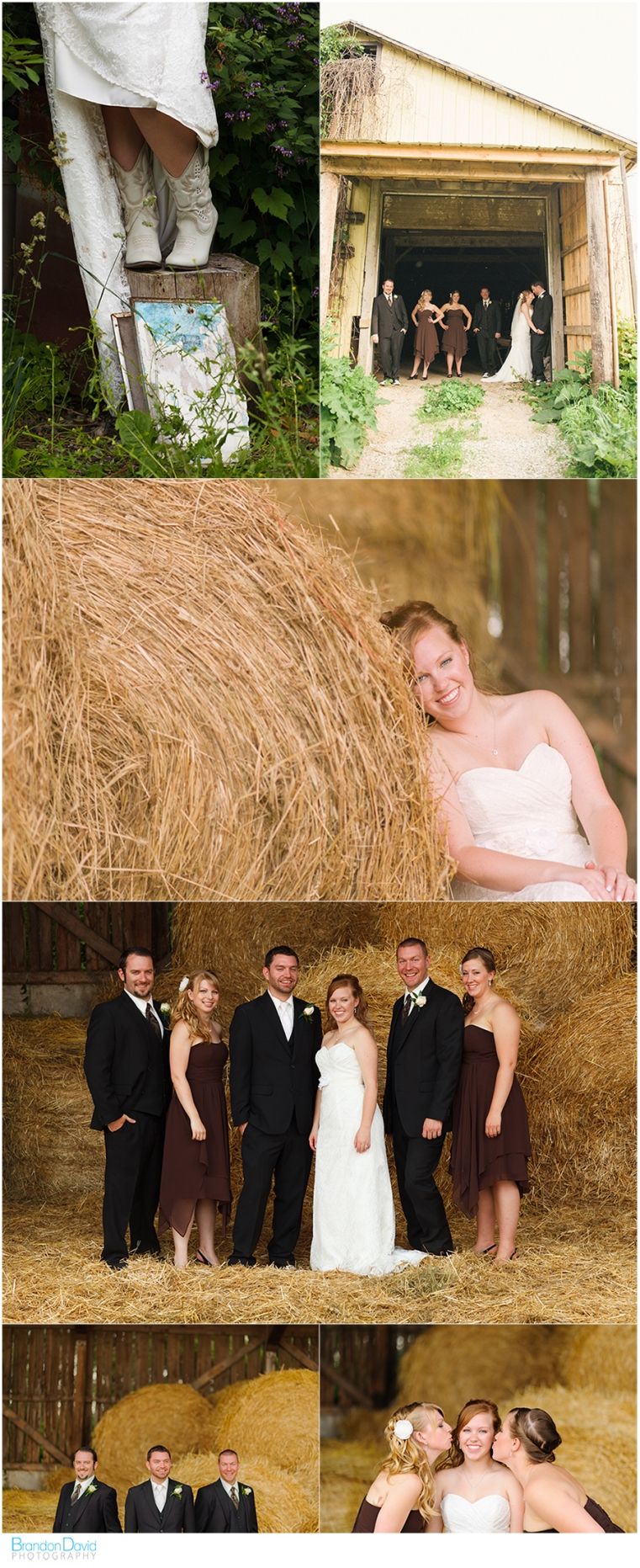 ographer - the wedding party - Purple Hill Farms - in the barn