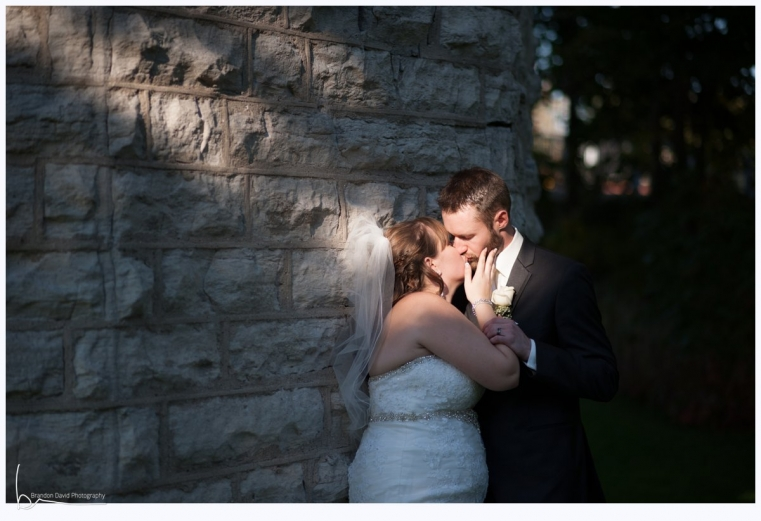 Ingersoll Wedding Photographer - Romantic Bride and Groom - Streaking Light